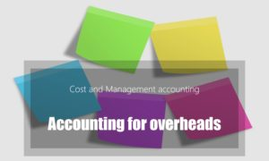 Accounting for overheads | Fixed Variable | Absorption rate