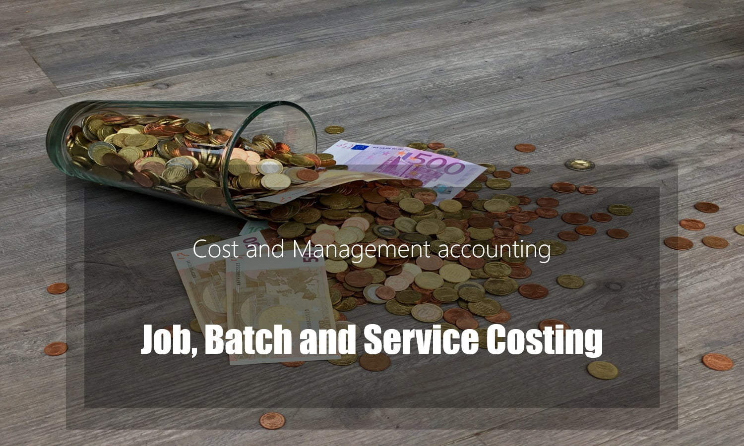 Job Batch and Service costing – Methods
